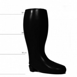ALL BLACK Boot Dildo Vinyl,...